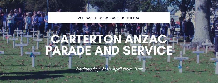 ANZAC Parade and Service – Wednesday 25th April, 10.45am