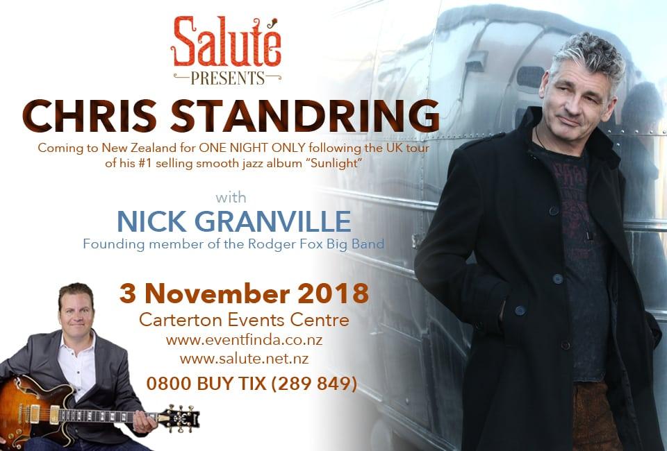 Chris Standring – Saturday 3 November, 6:30pm – 10:30pm
