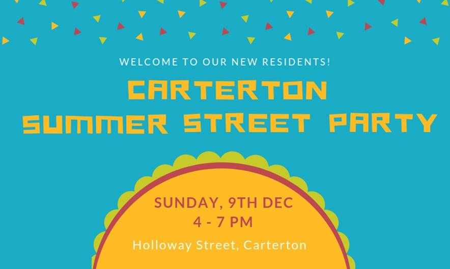Carterton Summer Street Party – Sunday 9 December, 4pm-7pm