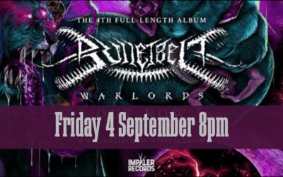 Bulletbelt – Warlords NZ Tour – Friday 4 September – 8pm