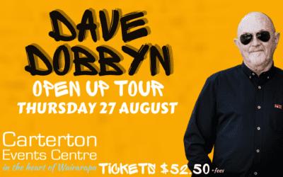 Dave Dobbyn, Open up Tour – Thursday 27 August – 7pm