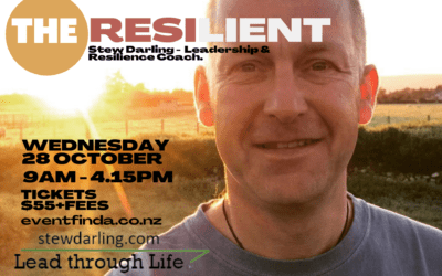 The Resilient – Stew Darling, Lead through Life – Wednesday 28 October – 9am – 4.15pm