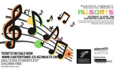Wairarapa Community Orchestra – Saturday 10 April – 7pm