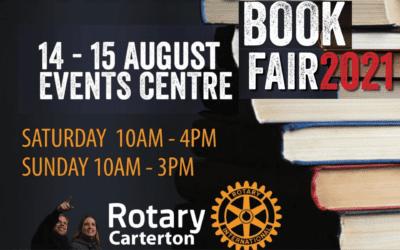 Rotary Annual Book Fair – 14 – 15 August Opens 10am both days
