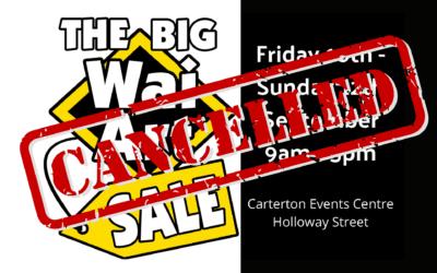 CANCELLED – Big Wai Art Sale – Friday 10 – Sunday 12 September